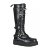V-Creeper-588 Black Faux Leather